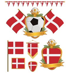 denmark flags vector image vector image