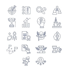 flat line design and development icons vector image
