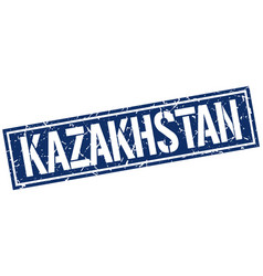 Kazakhstan blue square stamp vector
