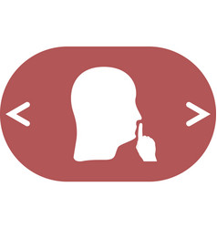 Keep quiet sign vector