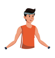 Man tired fitness sport training vector