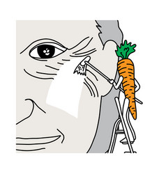 Metaphor benefit of beta-carotene in carrot is vector