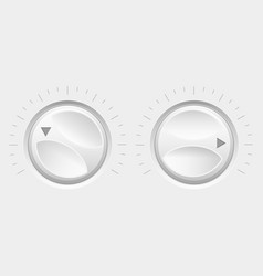 Navigation round knob buttons volume control vector