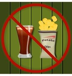 No fast food vector image