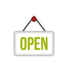 Open sign board icon flat style vector image