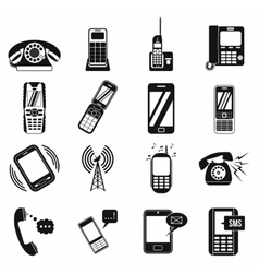 Phone simple icons vector