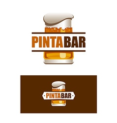 Pinta bar logo vector