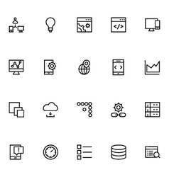 Productivity and development icons 7 vector