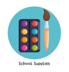 School supplies set icons vector