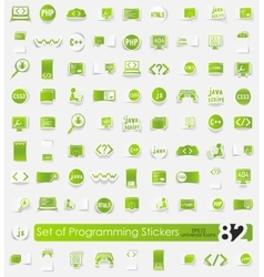Set of programming stickers vector image vector image
