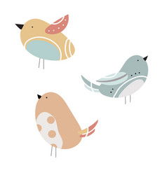 set of stylized birds a collection of vector image vector image