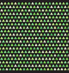 Shamrock pattern seamless clover background vector