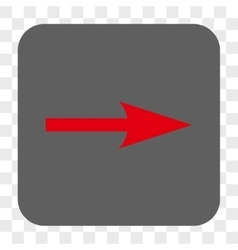 Sharp arrow right rounded square button vector