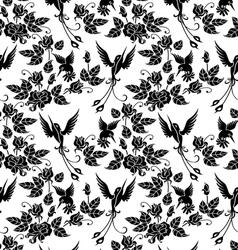 shrub roses vector image