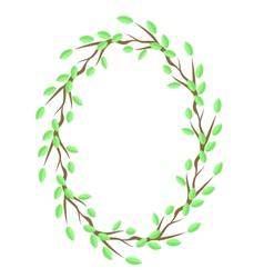 Spring Green Leaves Frame vector image