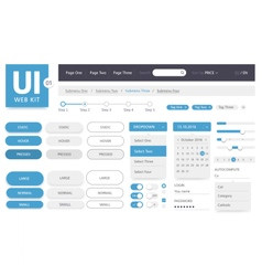 UI kit web template vector image