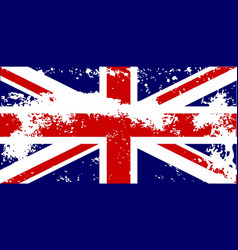 Union jack flag grunge vector