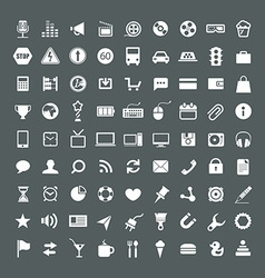 Web application icons collection vector image vector image