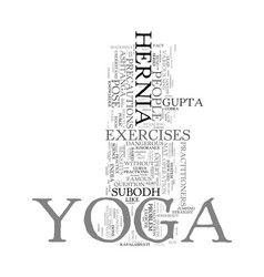 Yoga hernia and madonna text word cloud concept vector