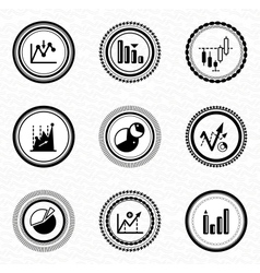 Black retro labels and badges business statistic vector