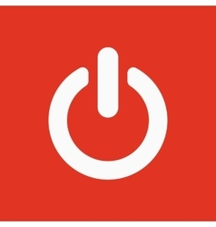 The power icon power symbol flat vector