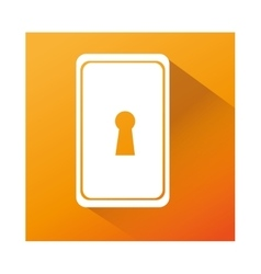 key hole isolated icon vector image