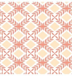Peach orange argyle retro seamless pattern vector