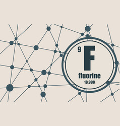 Fluorine chemical element vector