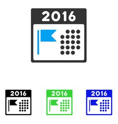 2016 holiday calendar flat icon vector
