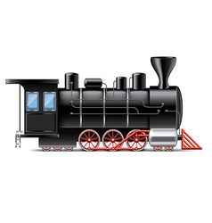 Locomotive isolated vector