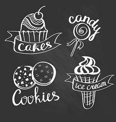 Label logo set for restaurant menu bakery and vector