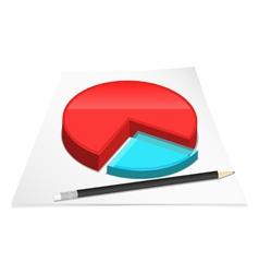 diagram with pencil vector image
