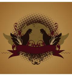 Funky chickens vector