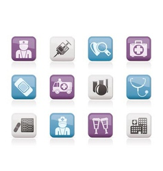 Medicine and healthcare icons vector