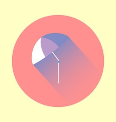 Colorful flat umbrella icon vector