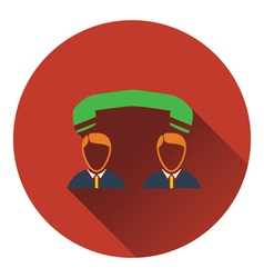 Icon of telephone conversation vector