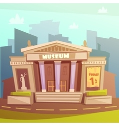 Museum cartoon vector