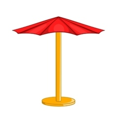 Beach umbrella icon cartoon style vector