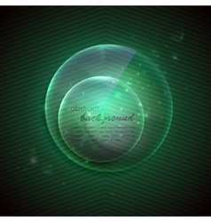 abstract background with glass transparent sphere vector image