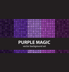 abstract pattern set purple magic seamless vector image vector image