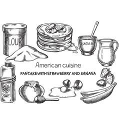 American cuisine vector
