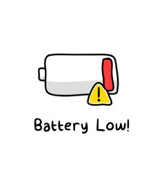 battery low sketch vector image vector image
