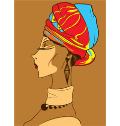 beautiful african woman vector image vector image