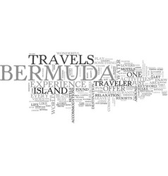 Bermuda travels text word cloud concept vector