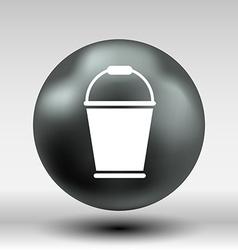 Bucket icon button logo symbol concept vector