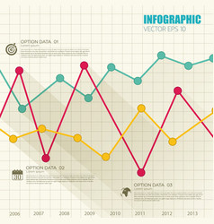 business infographic web concept vector image vector image