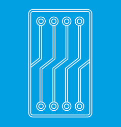 circuit board icon outline vector image