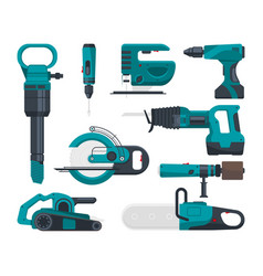 construction electro tools for repair vector image vector image