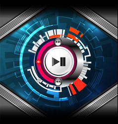 cyber media player vector image