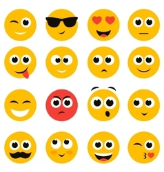 emotional face icons isolated on white vector image
